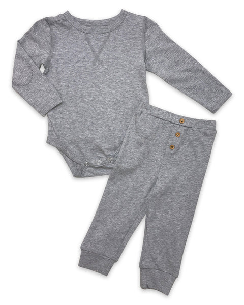 Riley Set in Heathered Grey