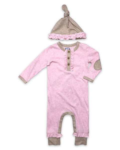 Finn Playsuit in Heathered Pink