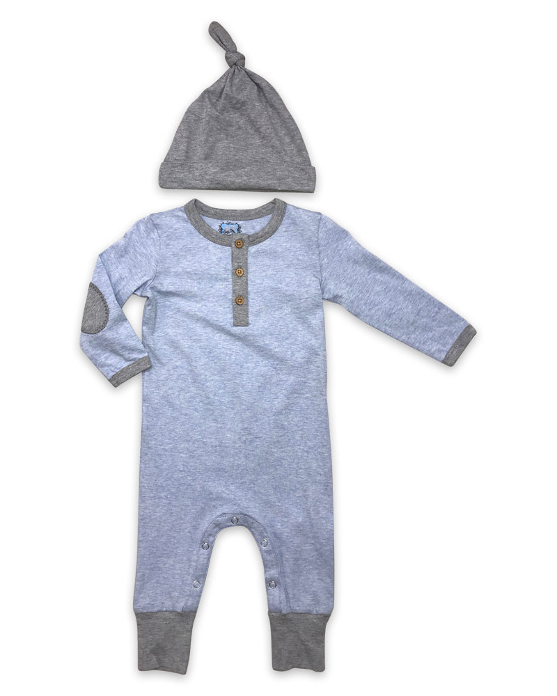 Finn Playsuit in Heathered Blue