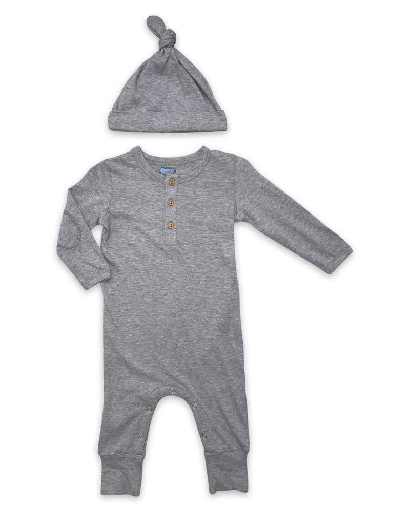 Finn Playsuit in Heathered Grey