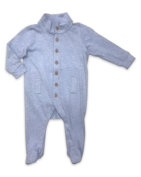Willow Playsuit in Heathered Blue
