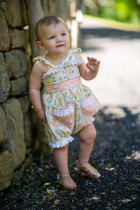 Anastasia Romper in Honey Blossom