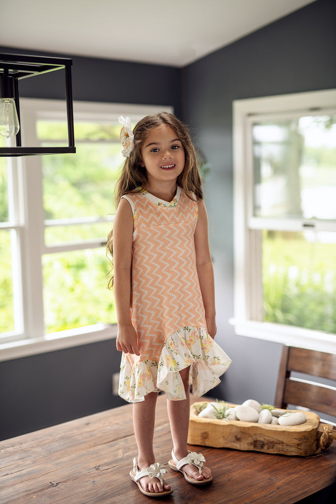 Cecily Tunic Dress in Honey Blossom