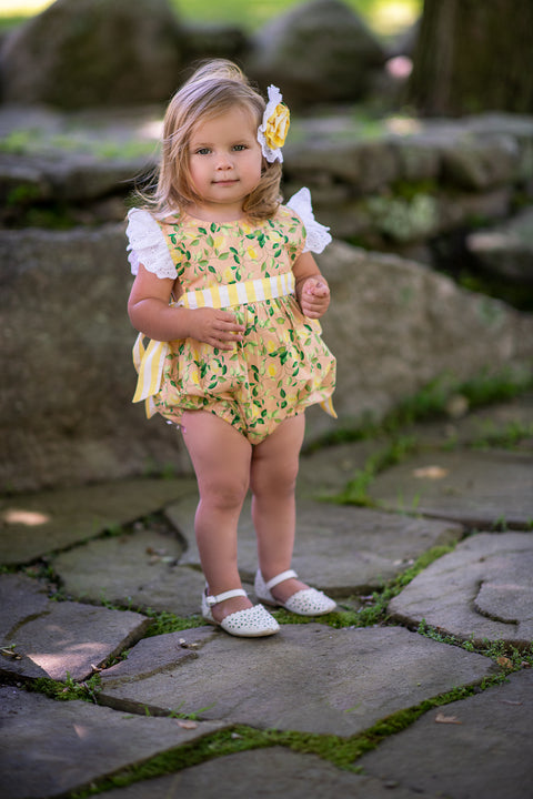 Imogen Romper in Lemon Drop