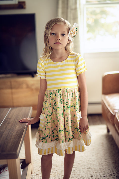 Maggie Dress in Lemon Drop