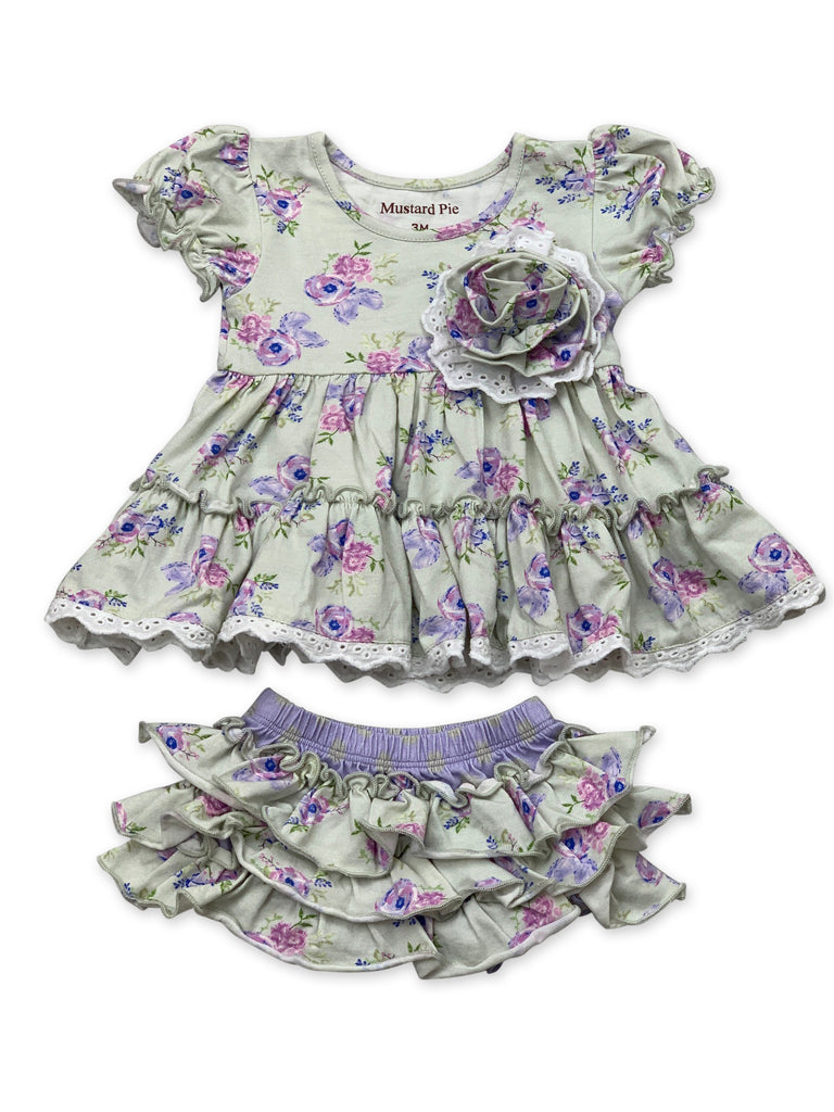 Lucy Dress Set in Lilac Field