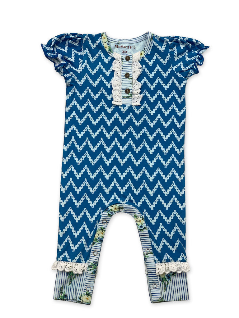 Lala Romper in Nautical Summer