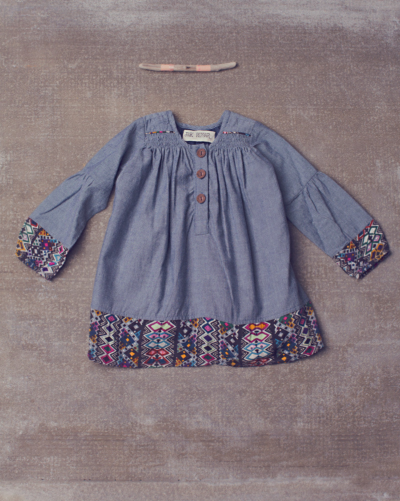 Ryla Dress in Chambray