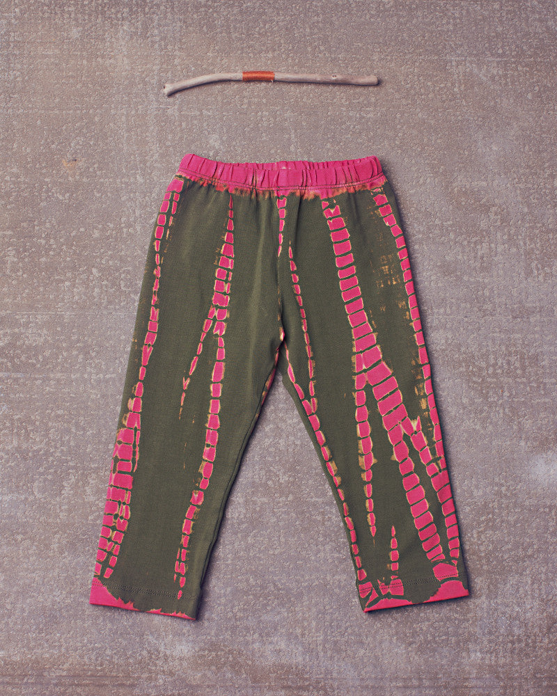 Eve Legging in Dazed Electric Pink Olive
