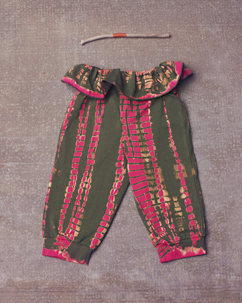 Adriana Harem Pant in Dazed Electric Pink Olive