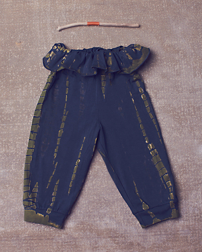 Adriana Harem Pant in Dazed Navy Olive