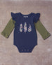 Avonlea Onesie in Navy Bean
