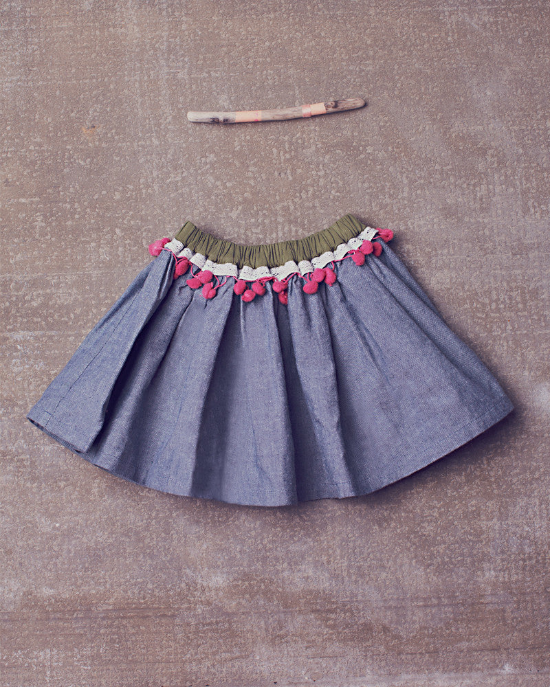 Saige Skirt in Chambray