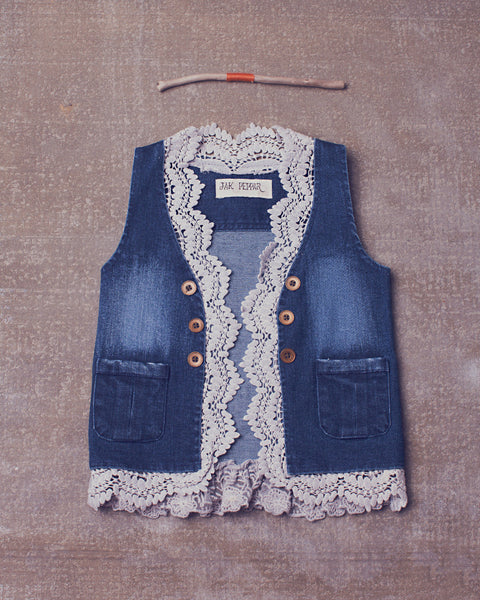 Gypsy Gene Vest in Medium Wash