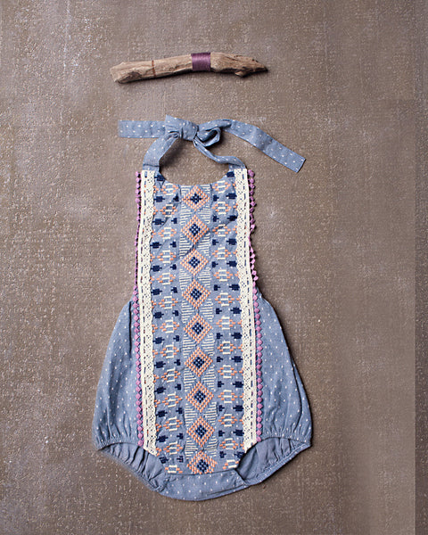 Izzy Romper in Chambray