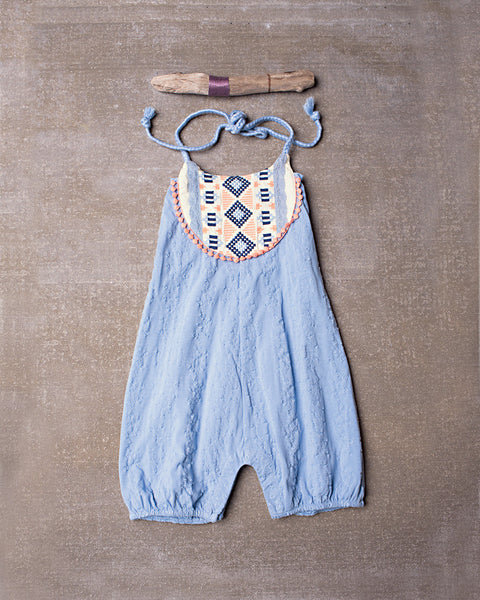 Out West Romper in Spa Blue
