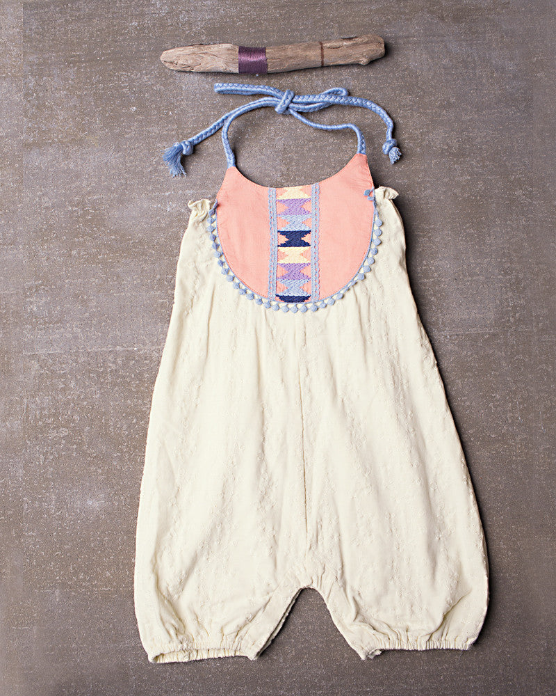 Out West Romper in Vanilla