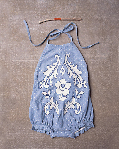 Meadow Romper in Chambray