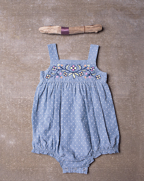 Saffron Romper in Chambray
