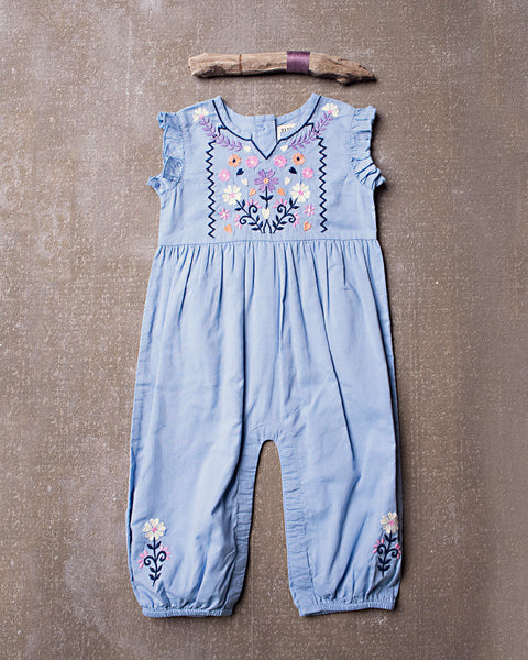 Astra Romper in Spa Blue