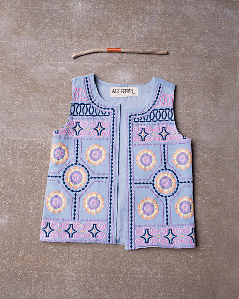 Ringo Vest in Spa Blue