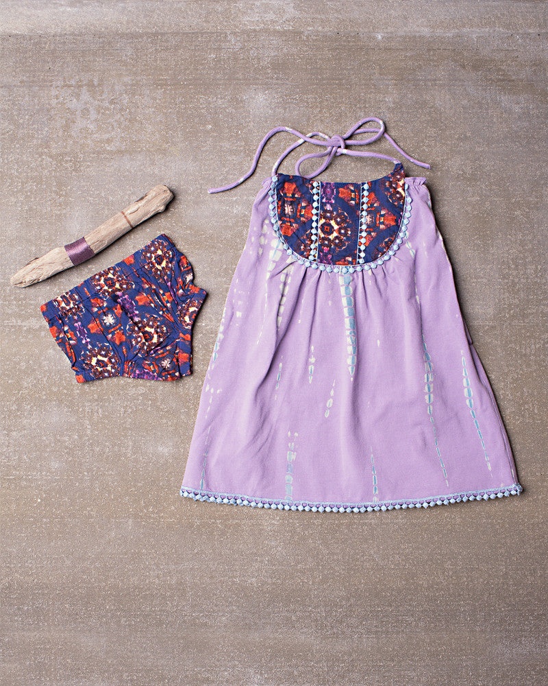 Gypsy Dress Set in Dazed Lavender