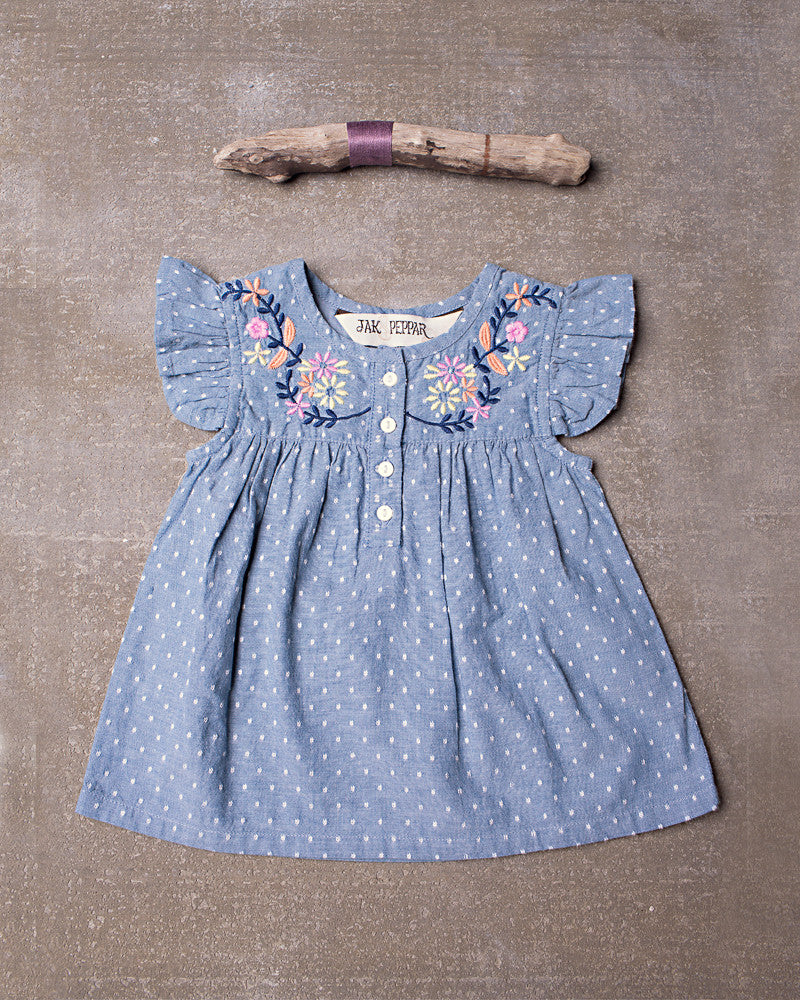 Aspen Top  in Chambray