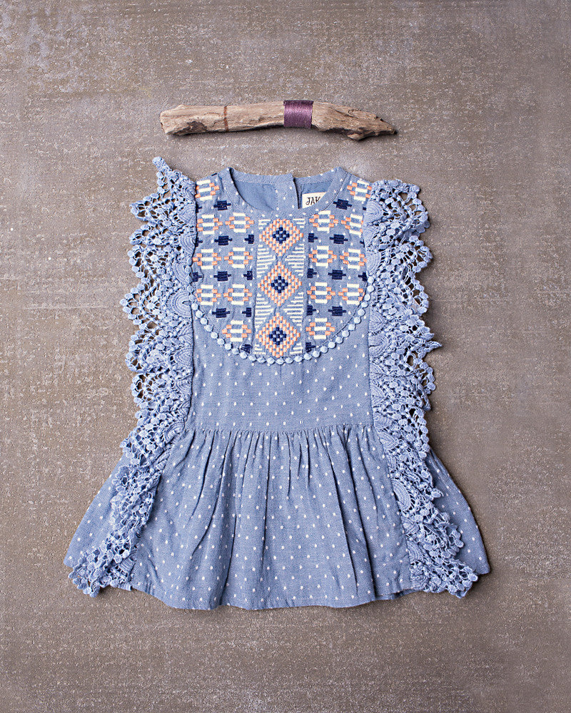 Maya Tunic  in Chambray