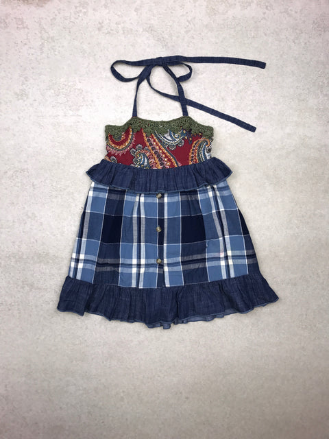 Juniper Dress in Sky Blue Plaid