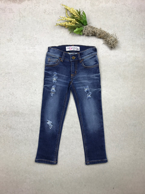 Wee One Boyfriend Skinnies in Medium Wash