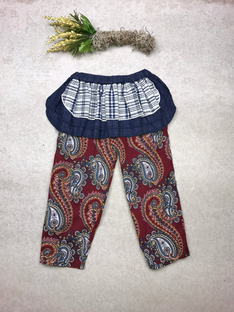 Lolla Apron Pant in Burgundy