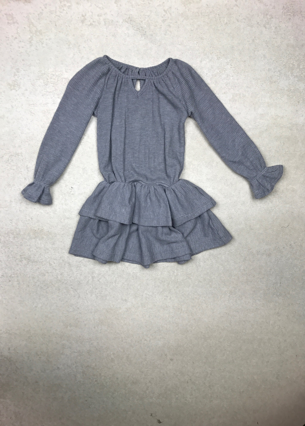 Gidget Peplum Tunic in Grey