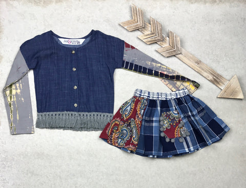 Harlow Skirt Set in Festival Dazed