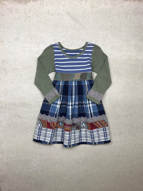 Follow Your Heart Tunic in Sky Blue Plaid