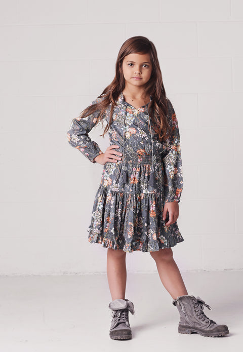 Angelique Dress in Slate