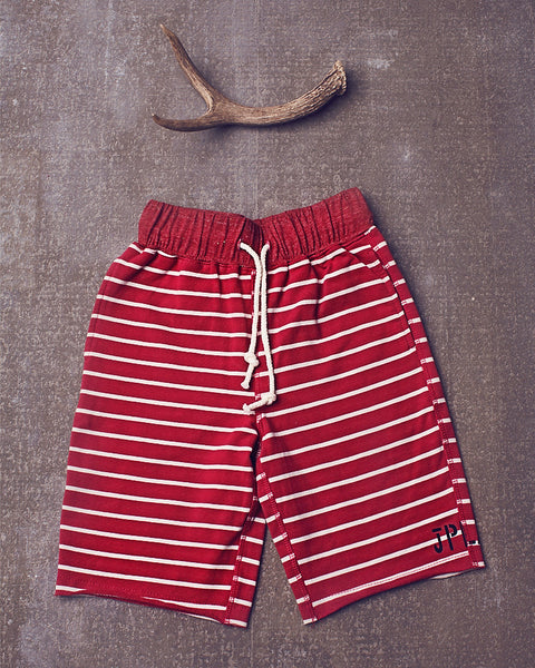 Lazy days short in Berry Stripe