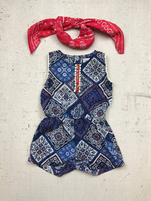 Ramona Romper in True Blue