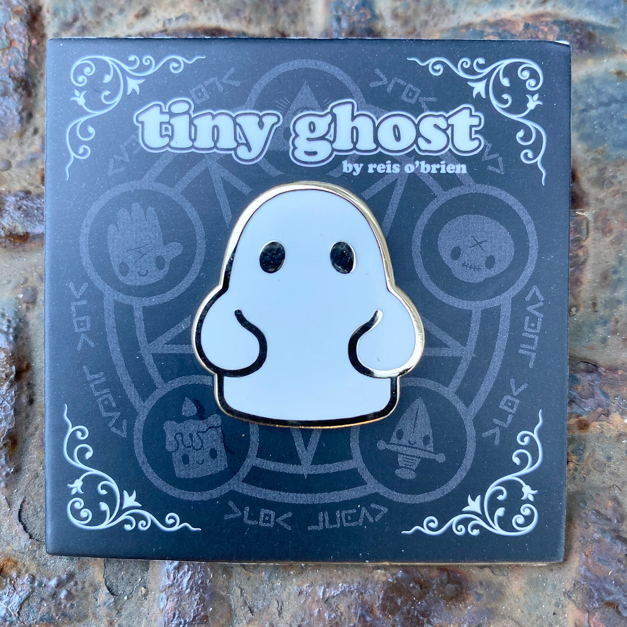 Tiny Ghost (OG) Gold Plated LE Enamel Pin
