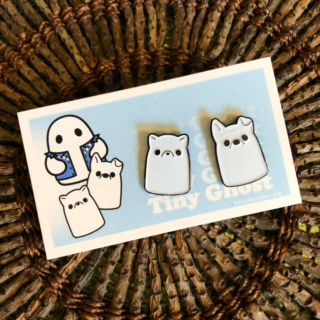 Puppy & Kitty Ghost (OG) Enamel Pin Set