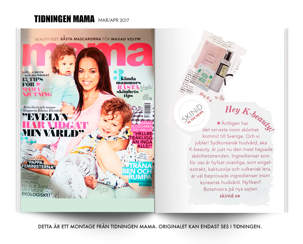 SKINiD in the Swedish magazine Mama march-april 2017