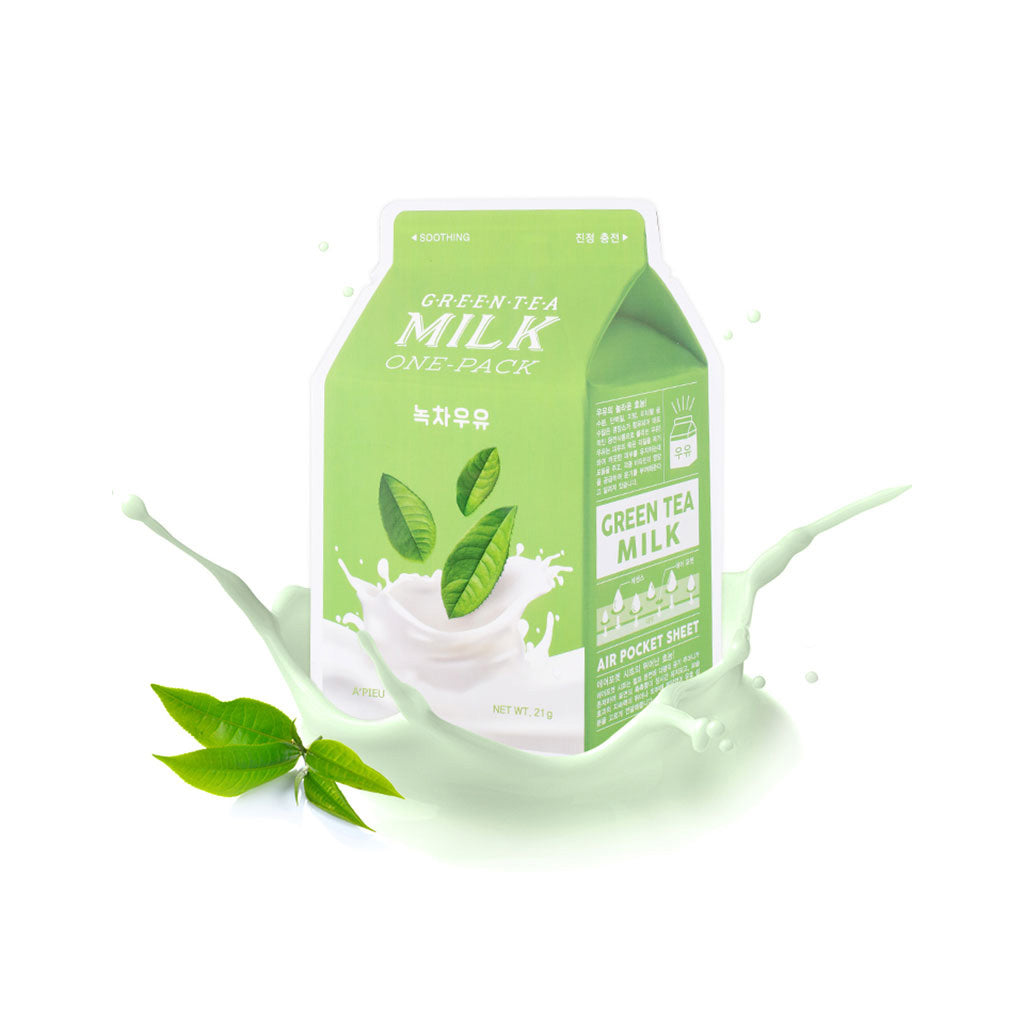 A'pieu Milk One Pack - Green Tea Milk | SKINiD.se