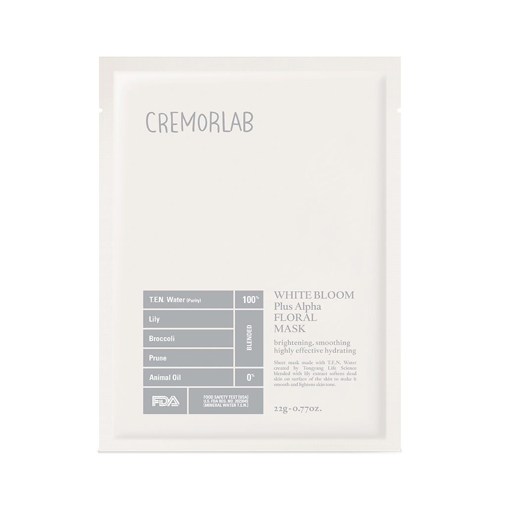 Cremorlab White Bloom Triple Bright Floral Mask | SKINiD.se