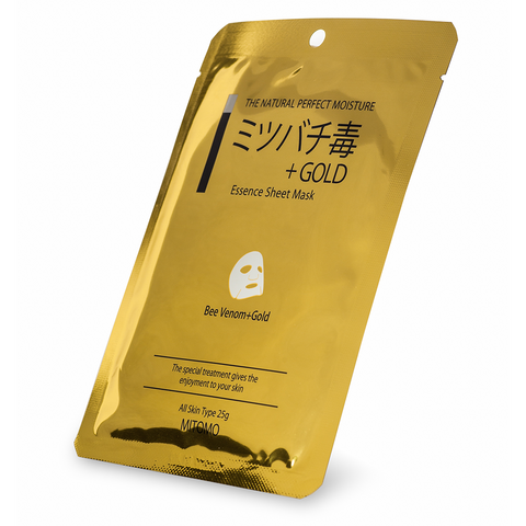 Mitomo Essence Sheet Mask Bee Venom + Gold | SKINiD.se
