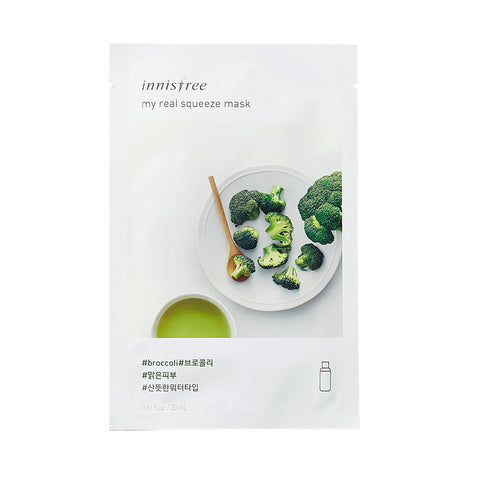 Innisfree My Real Squeeze Mask -Broccoli | SKINiD.se