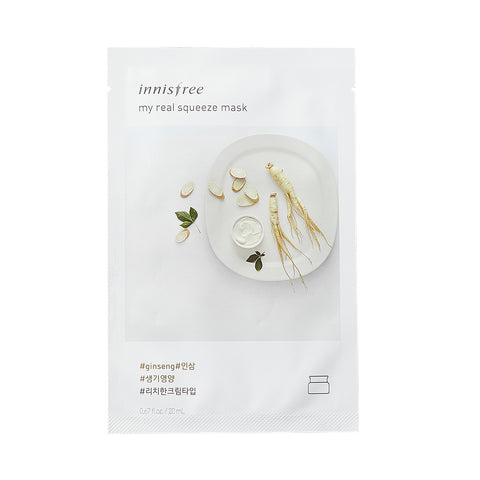 Innisfree My Real Squeeze Mask -Ginseng | SKINiD.se