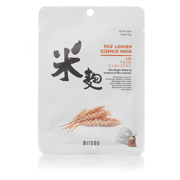 Mitomo RICE LEAVEN ESSENCE MASK | SKINiD.se