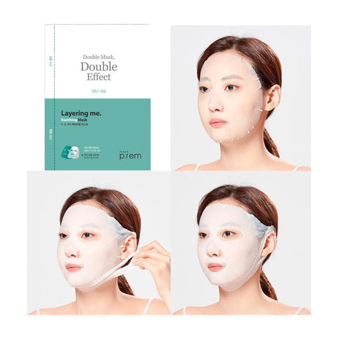 Make P:rem Soothing Layering Double Sheet Mask | SKINiD.se