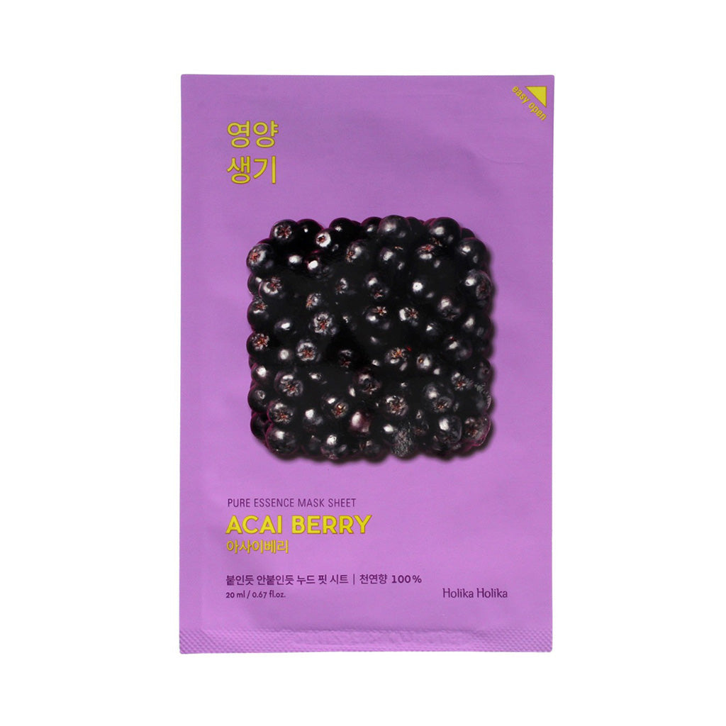 Holika Holika Pure Essence Mask Sheet - Acai Berry | SKINiD.se