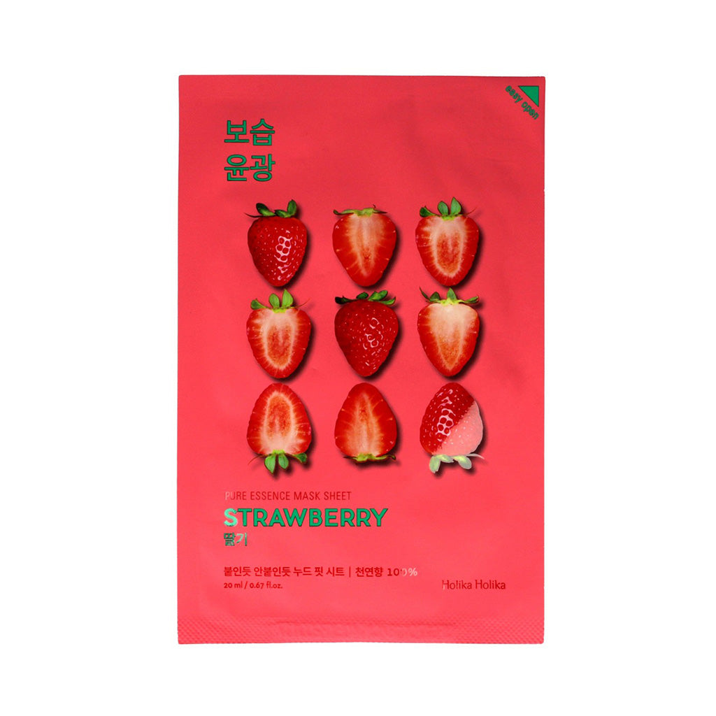 Holika Holika Pure Essence Mask Sheet - Strawberry | SKINiD.se