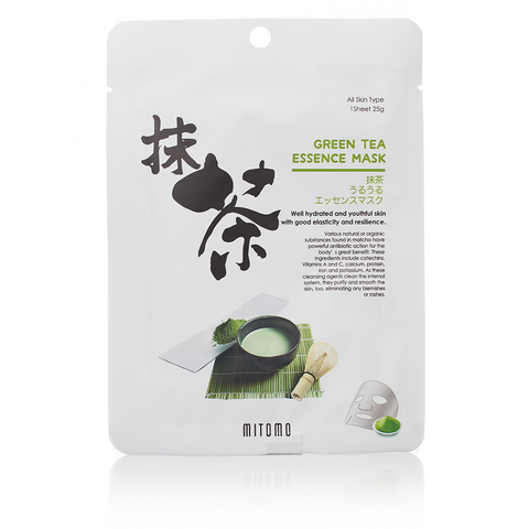 Mitomo Green Tea ESSENCE MASK | SKINiD.se